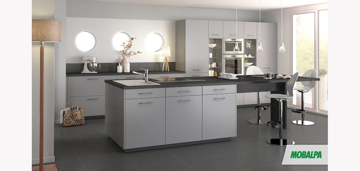 gris platinium mobalpa international. Black Bedroom Furniture Sets. Home Design Ideas