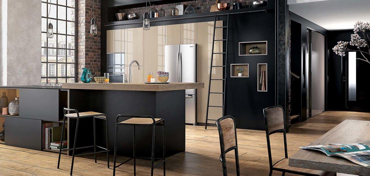 Bilde moderne Factory kjøkkenøy