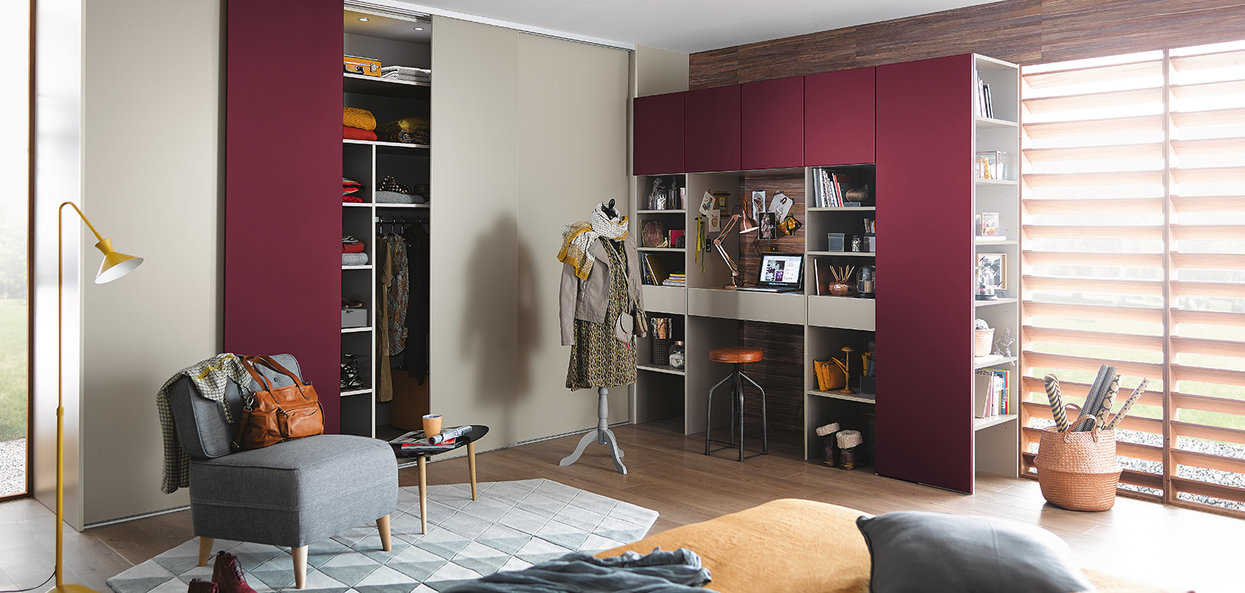 Bilde Soverom med skreddersydd garderobe kreativ