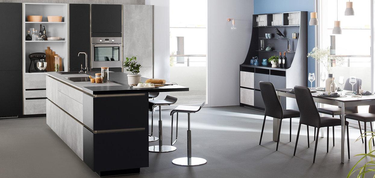 Bilde moderne kjøkkenøy betong design