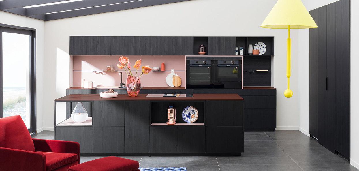 Bilde Design og trendig kjøkken matt sort