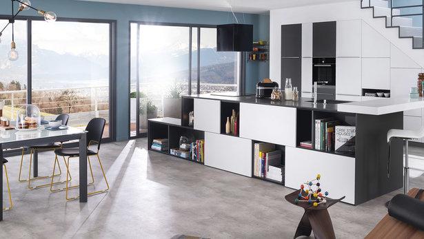 Bilde moderne kjøkken sort og hvit