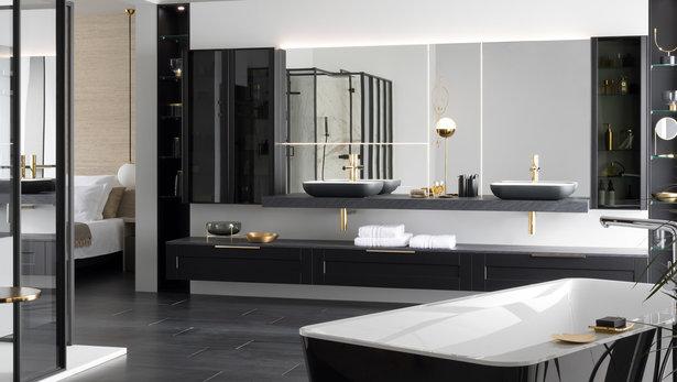 Bilde Moderne svart baderom