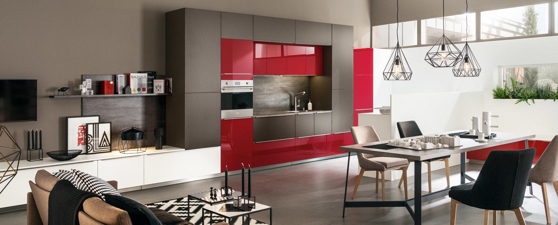 Moderne kjøkken rød geometri